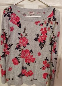 Floral knit sweater